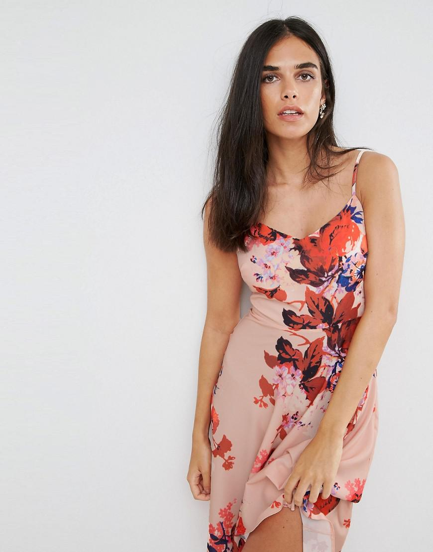 Lyst Hope And Ivy Hope Amp Ivy Floral Hi Lo Dress In Pink