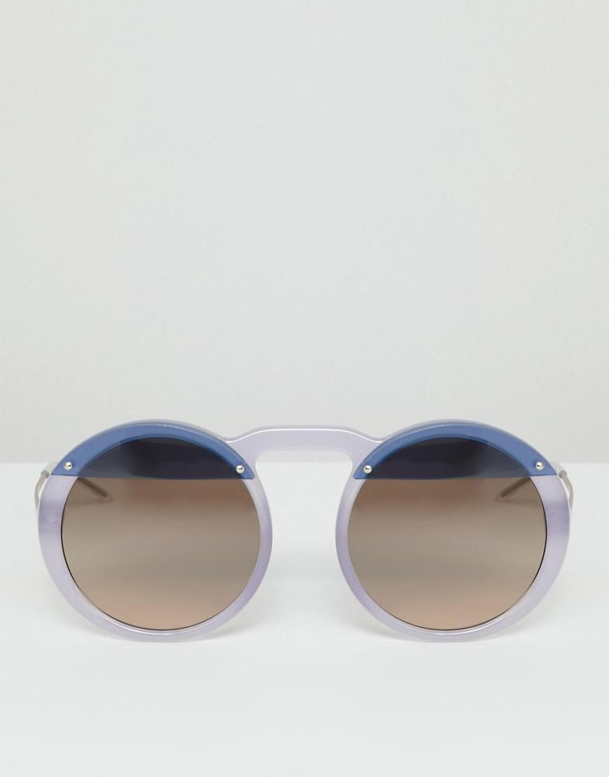 732a4fa15b99 Lyst - Emporio Armani Round Sunglasses in Purple for Men