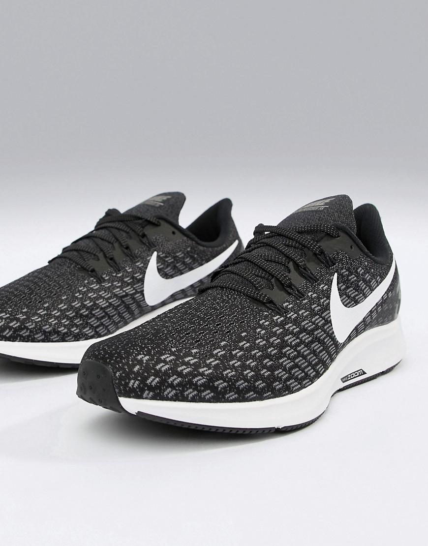 5135848b88e Nike Wide Fit Air Zoom 35 Pegasus Trainers In Black 942853-001 in Black for  Men - Lyst