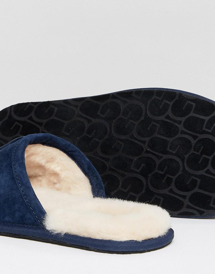 cdfcfbc19a3 UGG Scuff Suede Mule Slippers In Navy in Blue for Men - Lyst