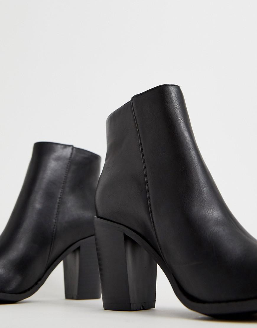 584b0713309a Lyst - Oasis Ankle Boot With Side Zip In Black in Black