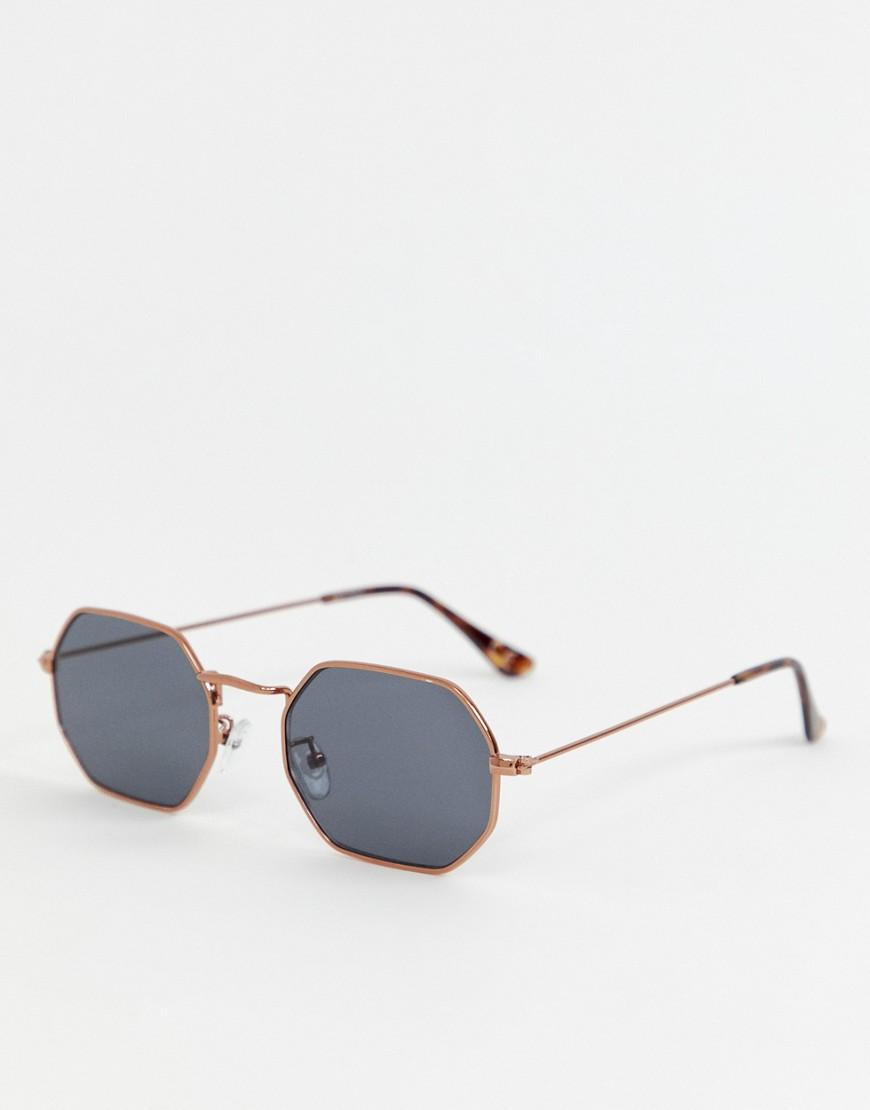 f4a8faa6d0d Lyst - ASOS Octagonal Sunglasses In Copper With Smoke Lens for Men