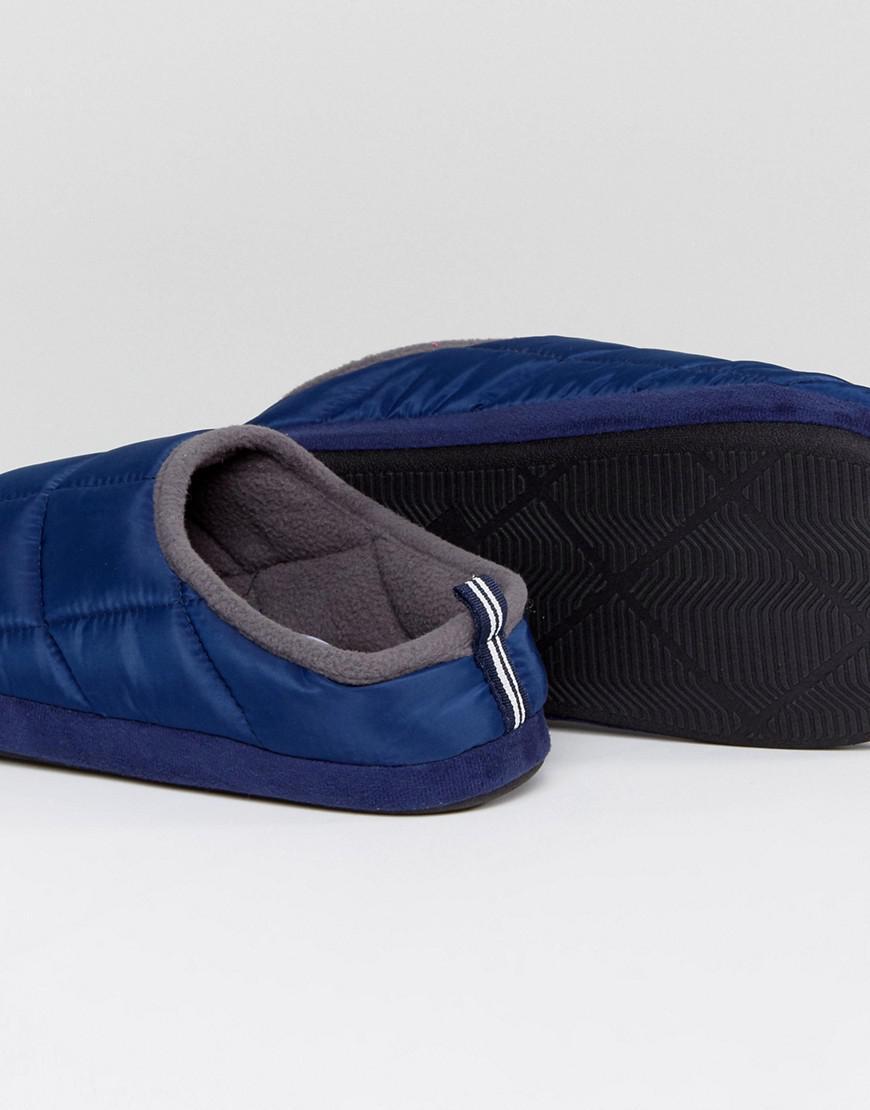 Padded Mule Slip On Slippers In Navy - Blue Dunlop G5Eg5uQRI