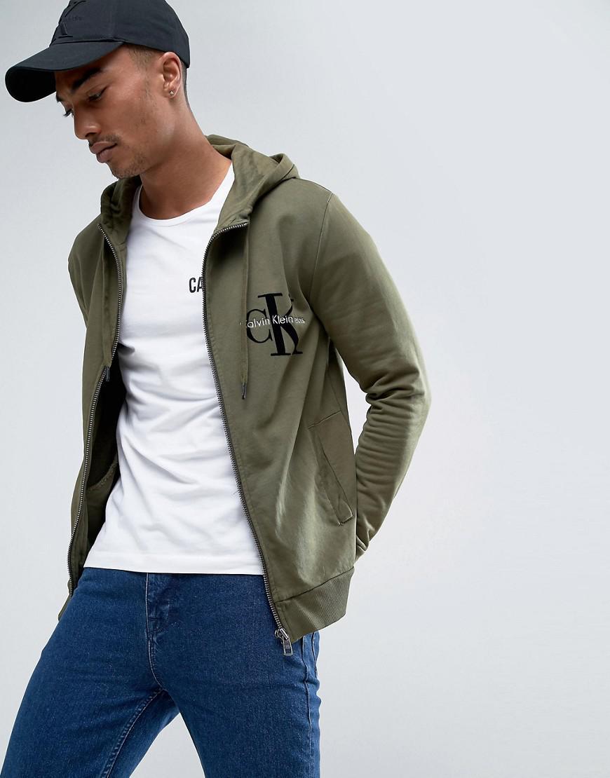 Jeans Avec Sweat Floqué Réédition Vert Klein En Logo À Capuche Calvin shirt  TfqfwX 8db446570bd