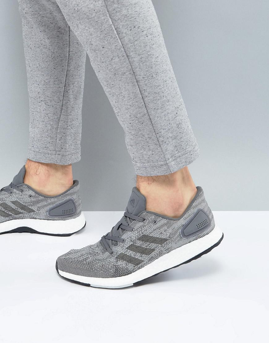 c41d1934e760 Lyst - adidas Running Pureboost Dpr In Grey Bb6290 in Gray for Men