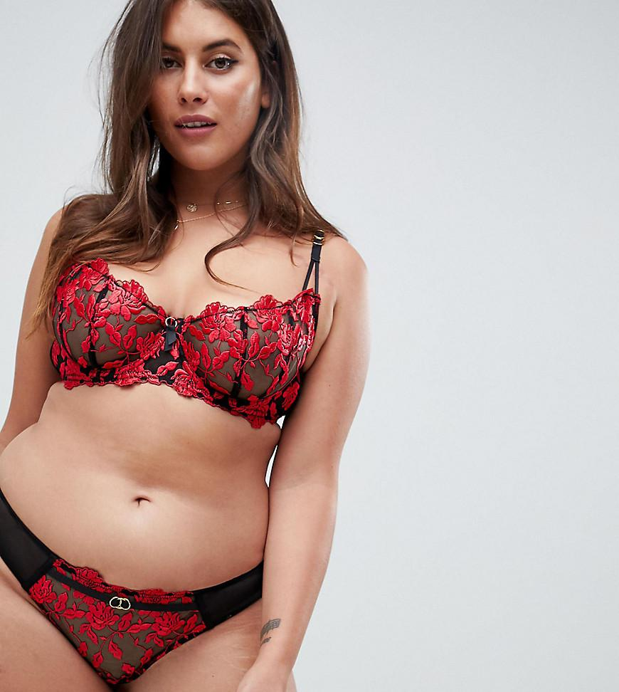 011167b8d7b42b Ann Summers Cecile Lace Brazilian Brief in Red - Lyst