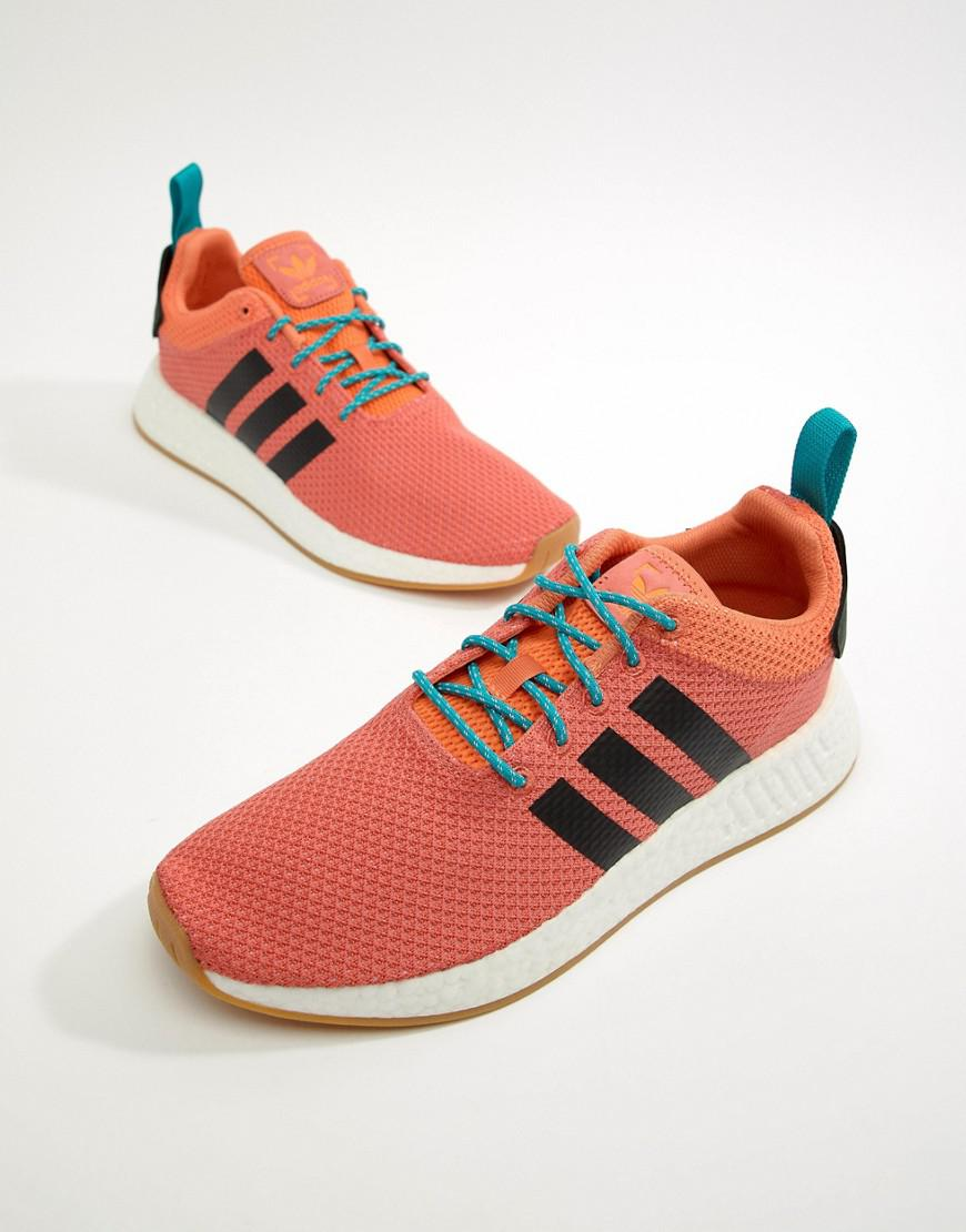 298a804ab91b86 Lyst - adidas Originals Nmd R2 Summer Boost Trainers In Orange ...
