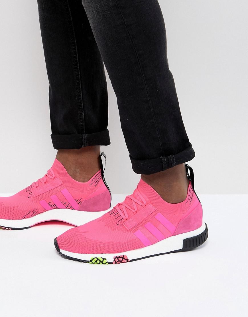 Adidas Originals NMD Racer PK Boost zapatilla en color rosa cq2442 en blanco