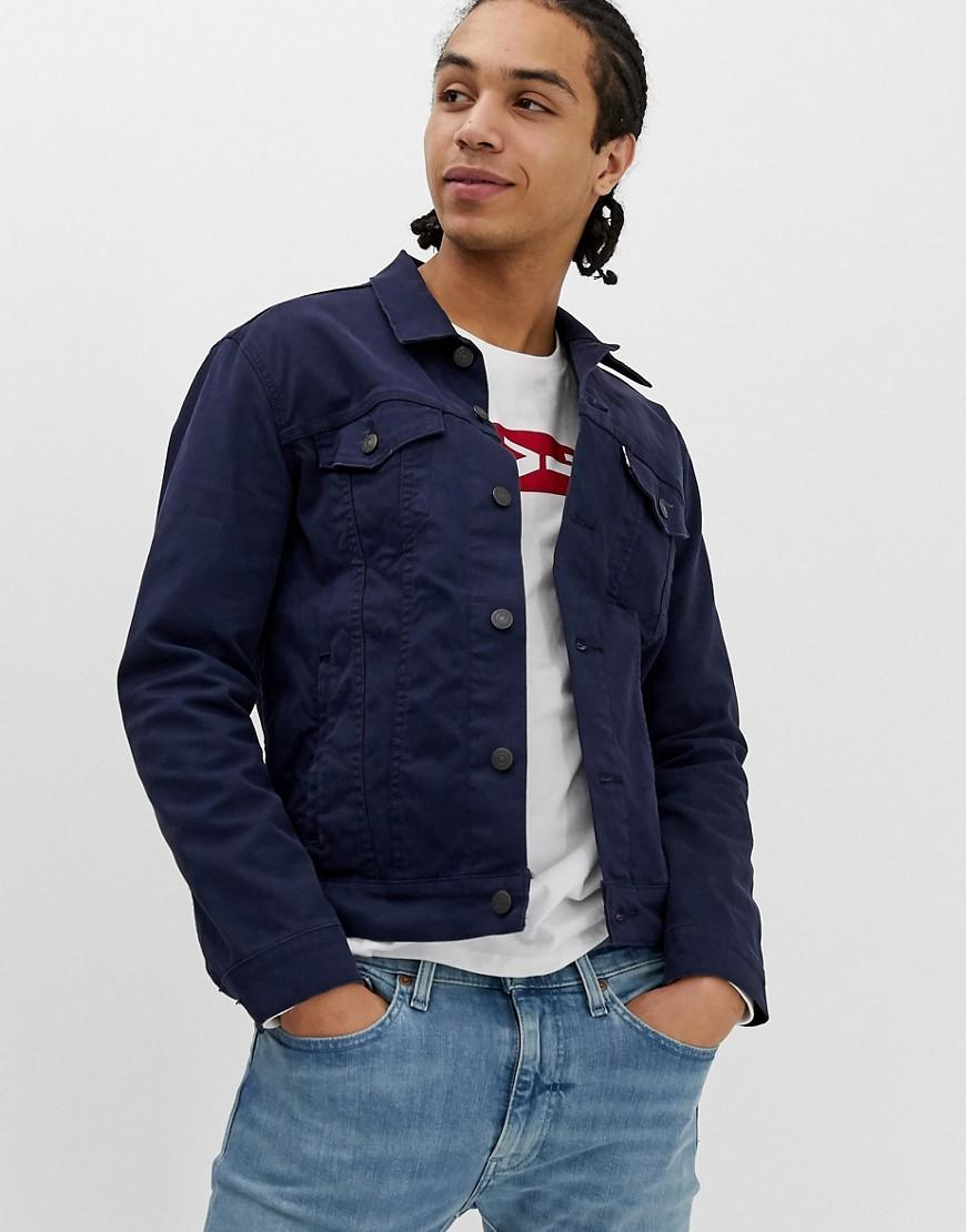e105b5a1f65f Levi's The Trucker Jacket In Navy Stretch Bedford Cord in Blue for Men -  Lyst
