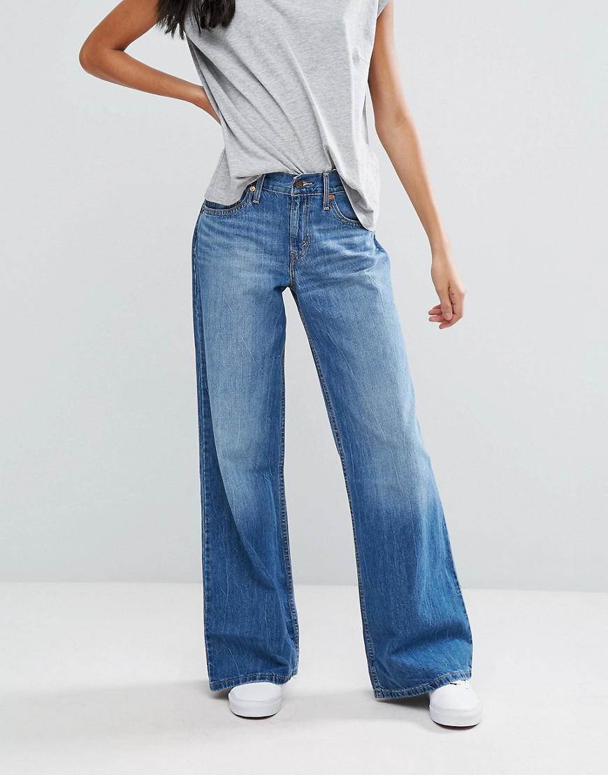 90397a8209cc Levi's Lightweight Wide Leg Jeans in Blue - Lyst