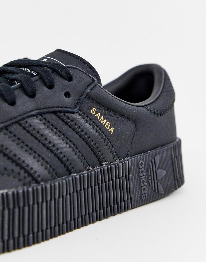 3f253f17918 adidas Originals Samba Rose Sneakers In Triple Black in Black - Lyst