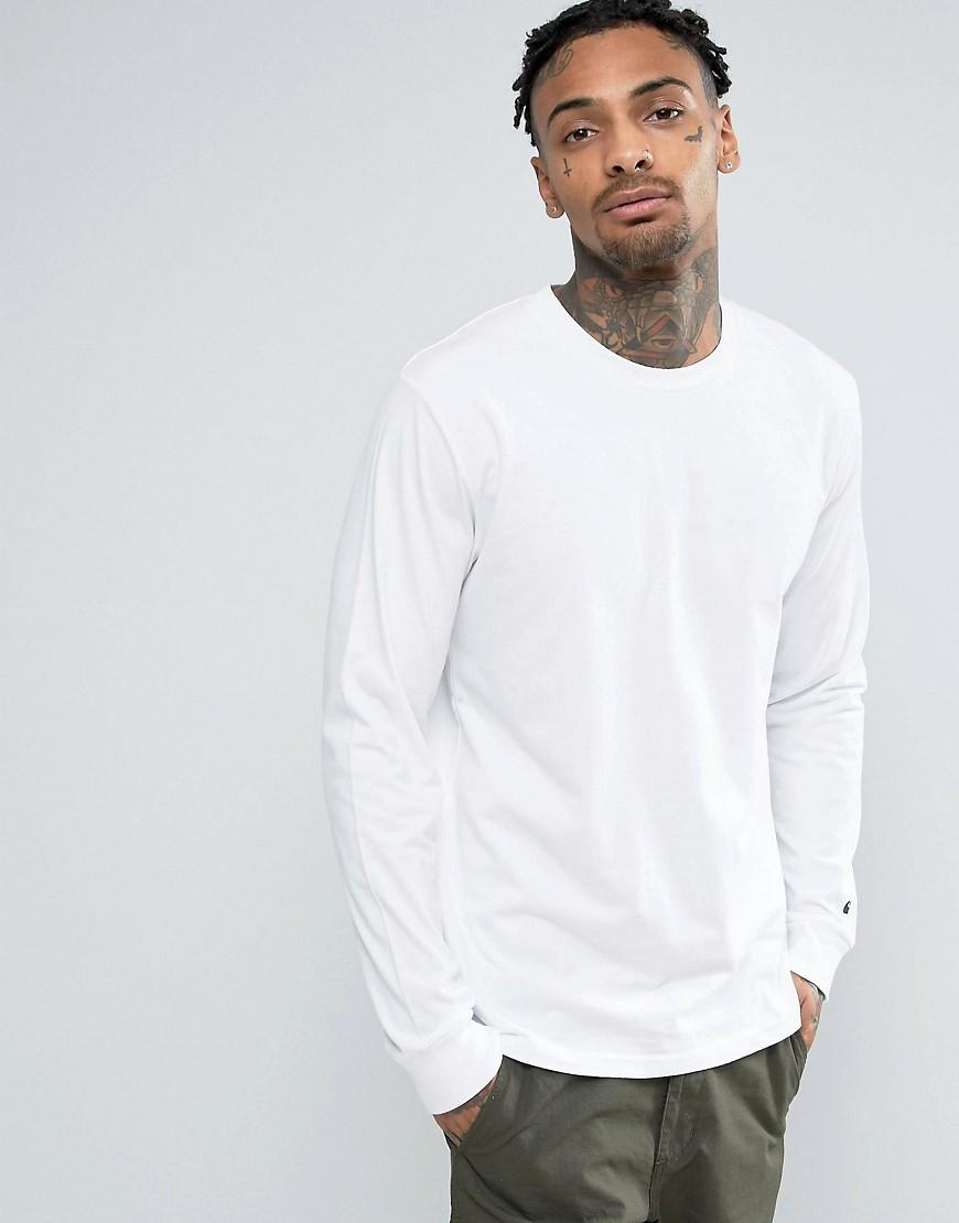 Carhartt wip base long sleeve t shirt in white for men lyst for Carhartt long sleeve t shirts white