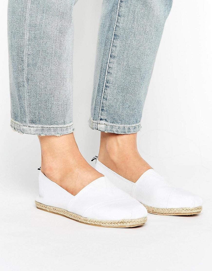 new look canvas espadrille in white lyst