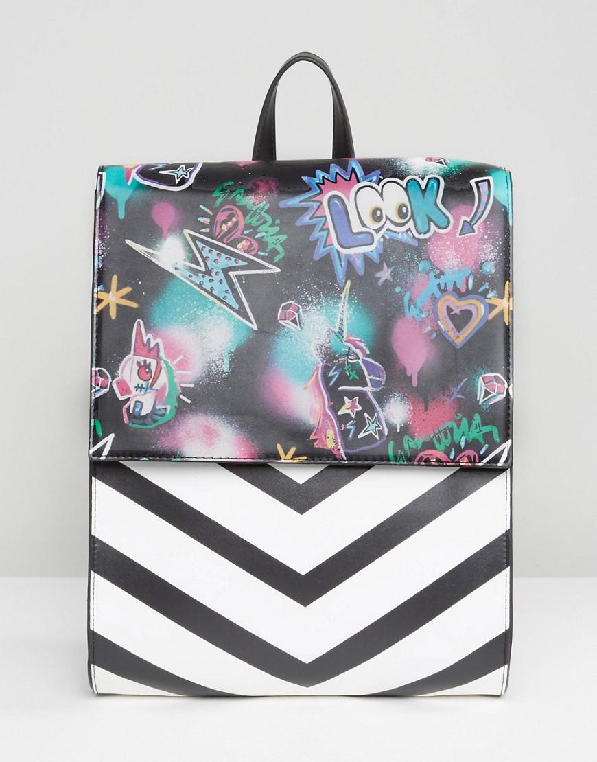 Image result for ASOS Graffiti Print Backpack