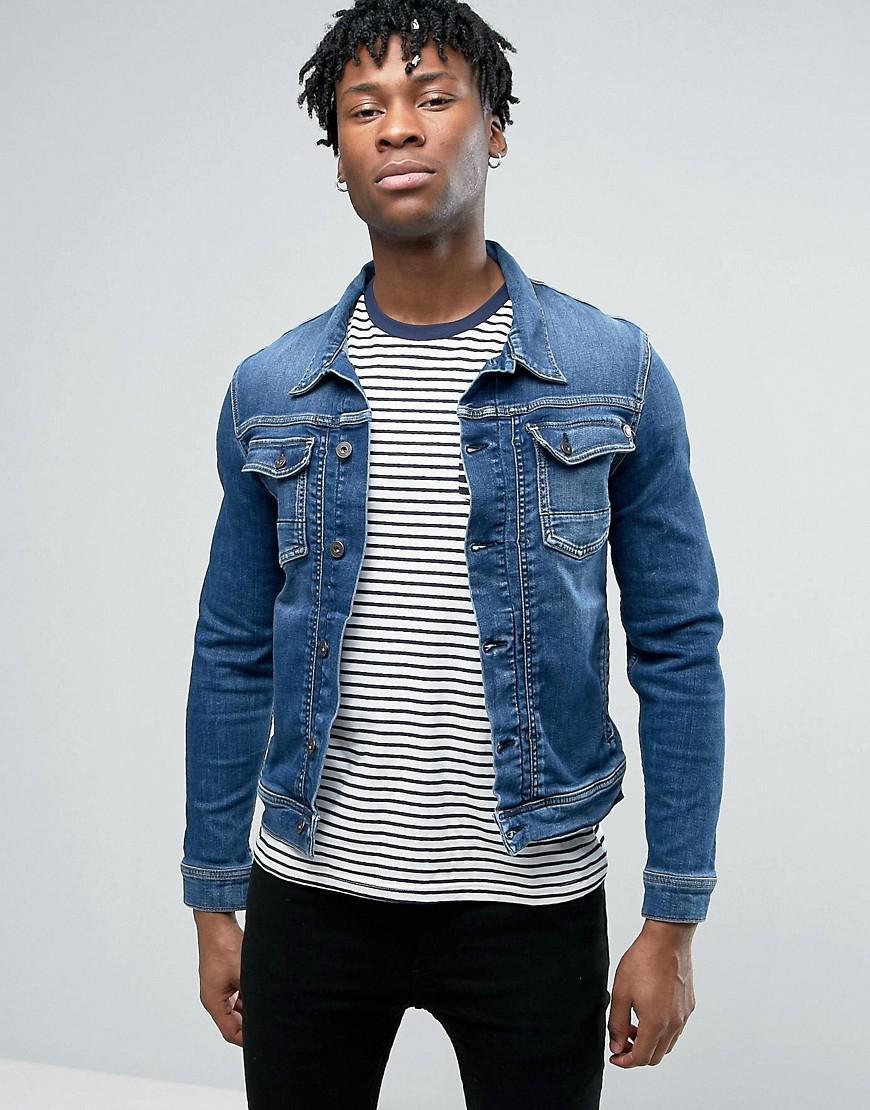 pepe jeans western denim jacket in blue for men lyst. Black Bedroom Furniture Sets. Home Design Ideas