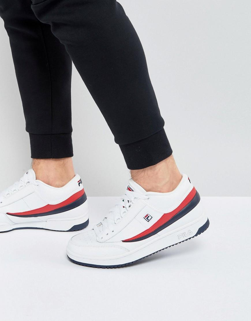 e32ee2895fff Lyst - Fila Heritage T1 Mid Sneakers in White for Men