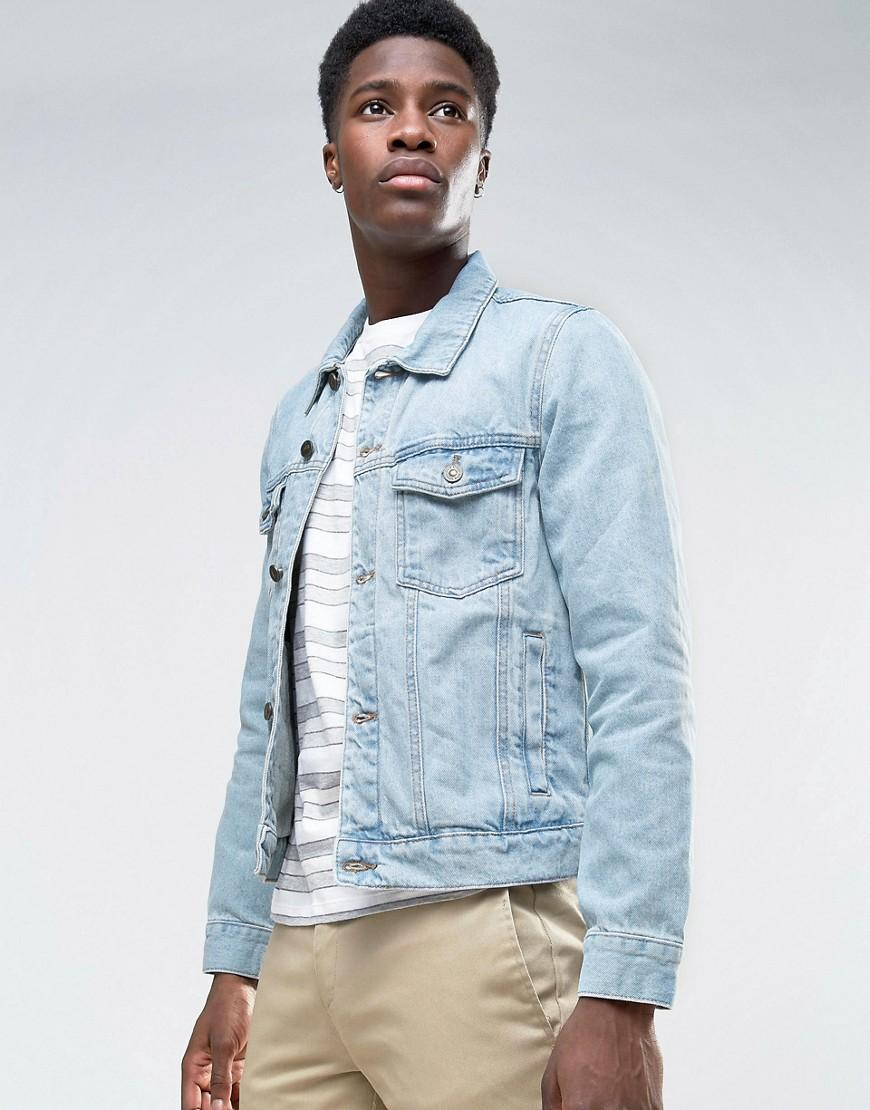 Lyst - Bershka Denim Jacket In Light Wash in Blue for Men