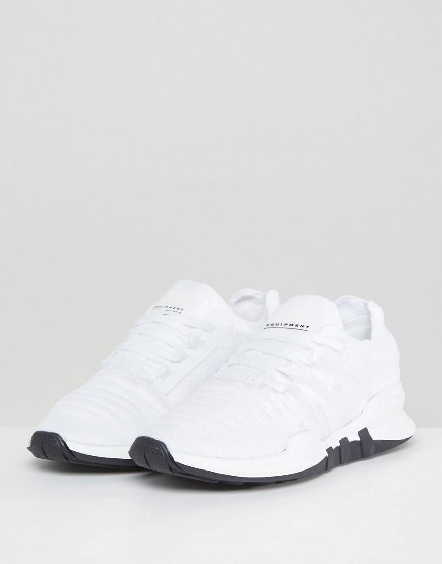 e3d83f5dd114 Lyst - adidas Originals Eqt Racing Adv Primeknit Sneakers In White in White