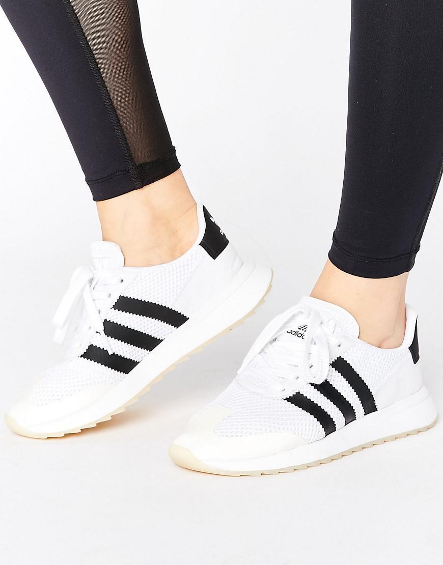 7cf67abe8532f4 adidas Originals Originals White Flb Sneakers in White - Lyst
