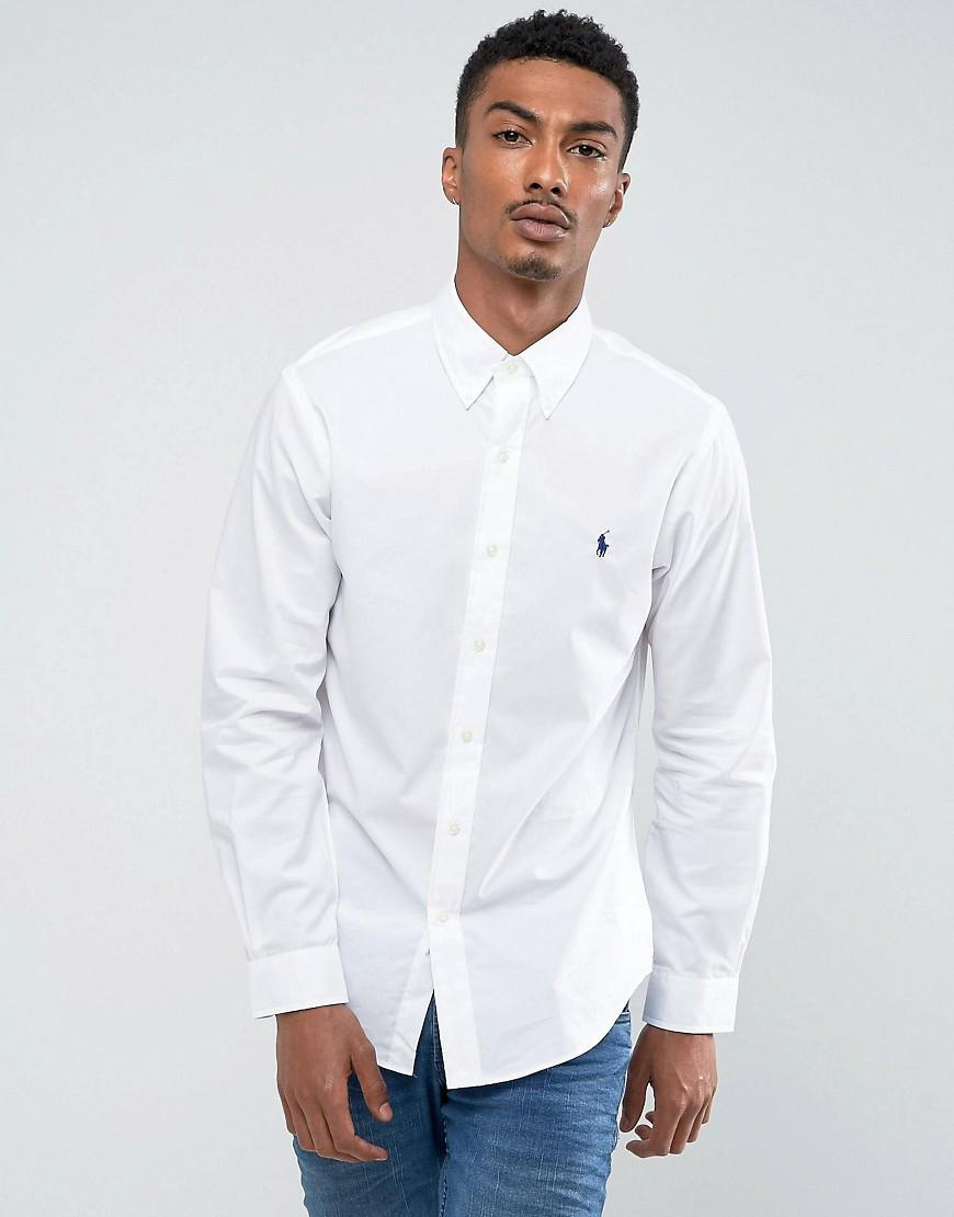 Polo Ralph Lauren Poplin Shirt Buttondown Slim Fit In