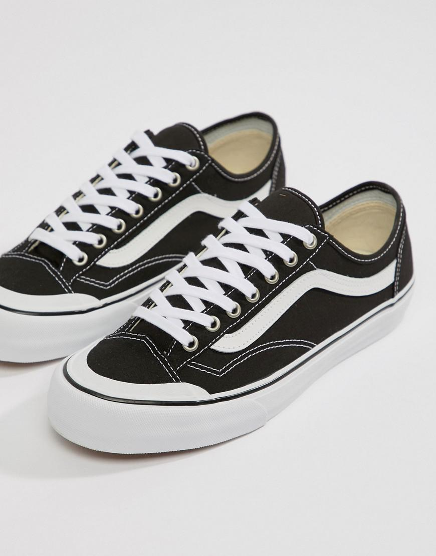 Style 36 Decon SF Checkerboard Trainers In Black VA3MVL01U - Black Vans NrSB3j8