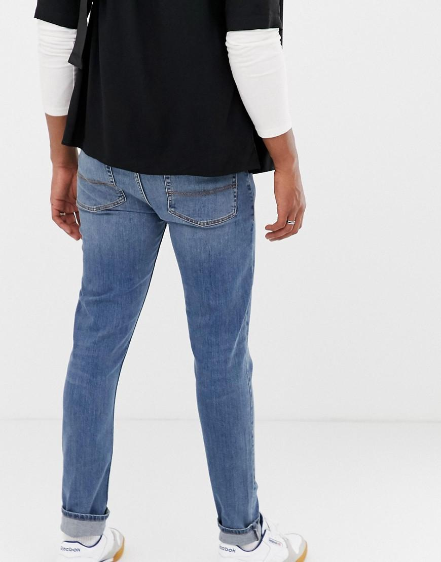1284842d6ad Collusion X001 Skinny Jeans In Blue Mid Wash in Blue for Men - Lyst