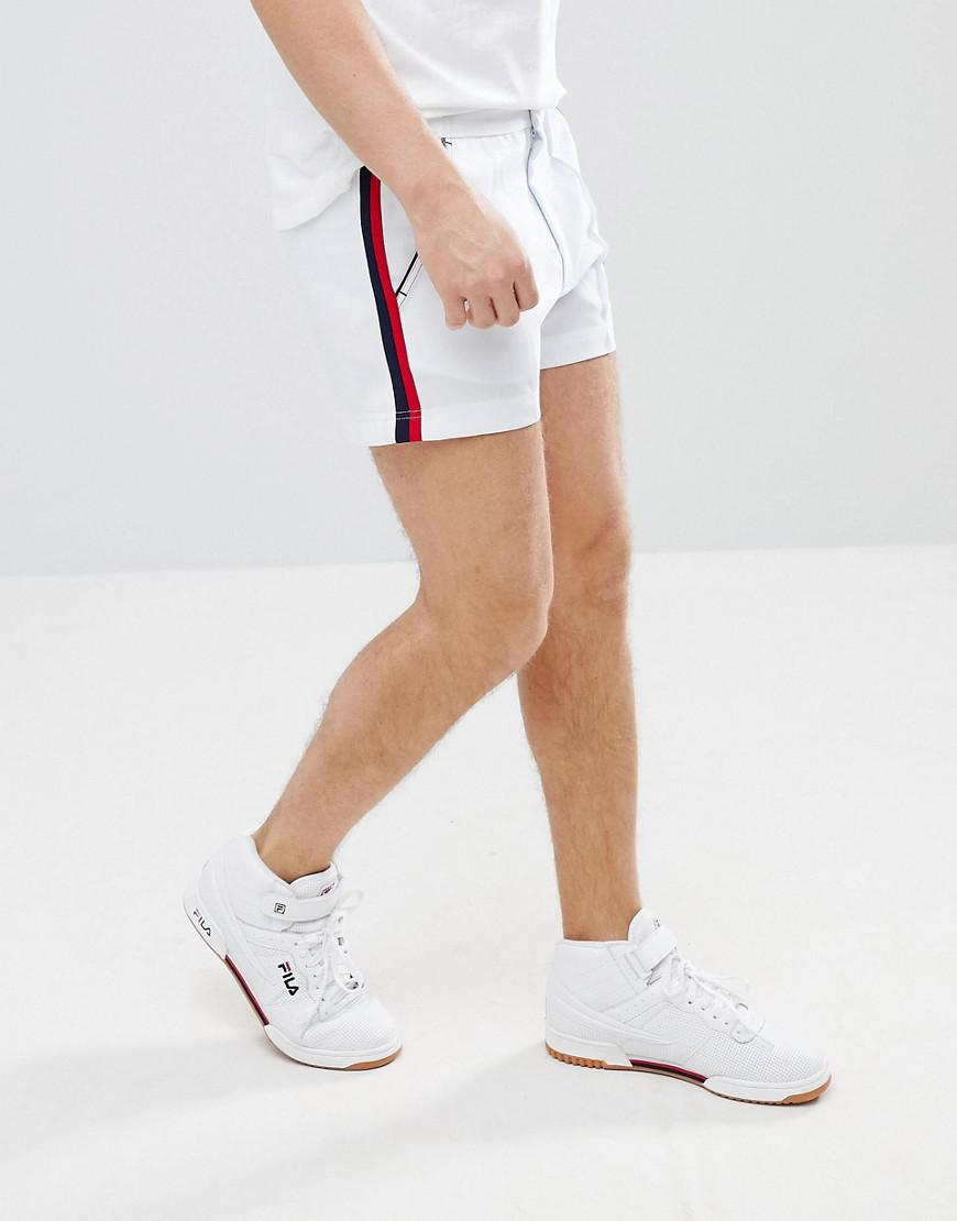 f9a8516f43b6 Fila Vintage Stripe Detail Retro Shorts In White in White for Men - Lyst