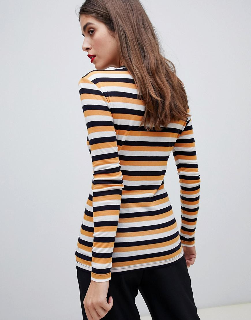 899d0115edc Vero Moda Stripe Long Sleeve Top - Lyst