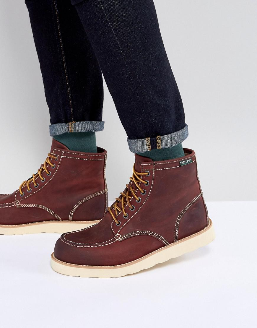 Eastland Lumber Up Moc Toe Lace Boot Brown Leather The