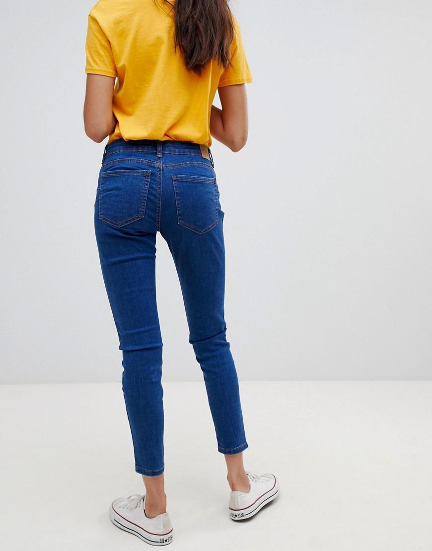 55de67e0f25c1 Bershka Push Up Jeans in Blue - Lyst