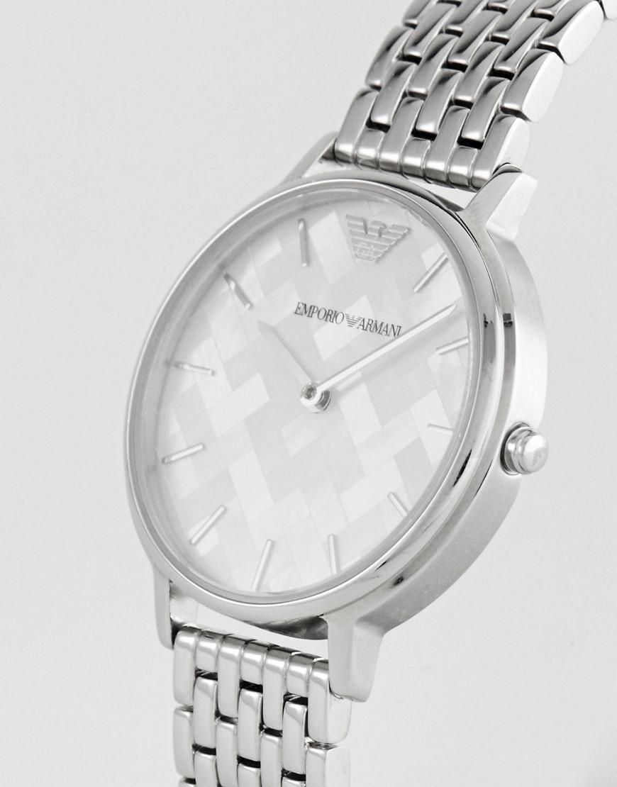 Lyst Emporio Armani Ar11112 Bracelet Watch In Silver 32mm Metallic Tissot Ladies Stylis T T0282101105700 Gallery