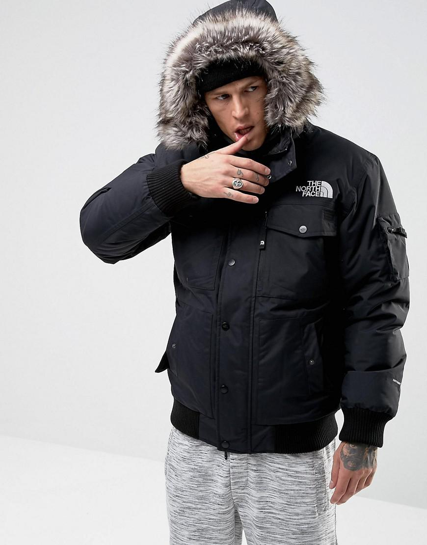The North Face Gotham Bomber Jacket With Detachable Faux