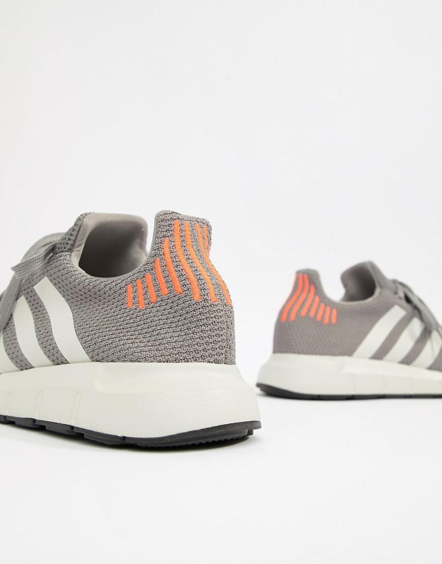5912dfcaf568f Lyst - adidas Originals Swift Run Sneakers In Gray B37728 in Gray ...