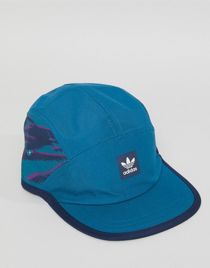 1f9caa004d4 adidas Originals Retro 5 Panel Cap In Blue Dh2583 in Blue for Men - Lyst