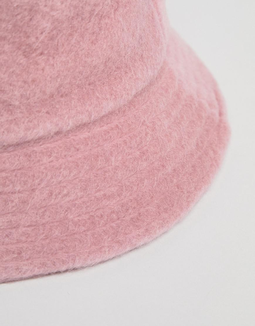 3c9a57338c7 ... super popular 15e89 4d3ac Lyst - Asos Fluffy Bucket Hat in Pink ...