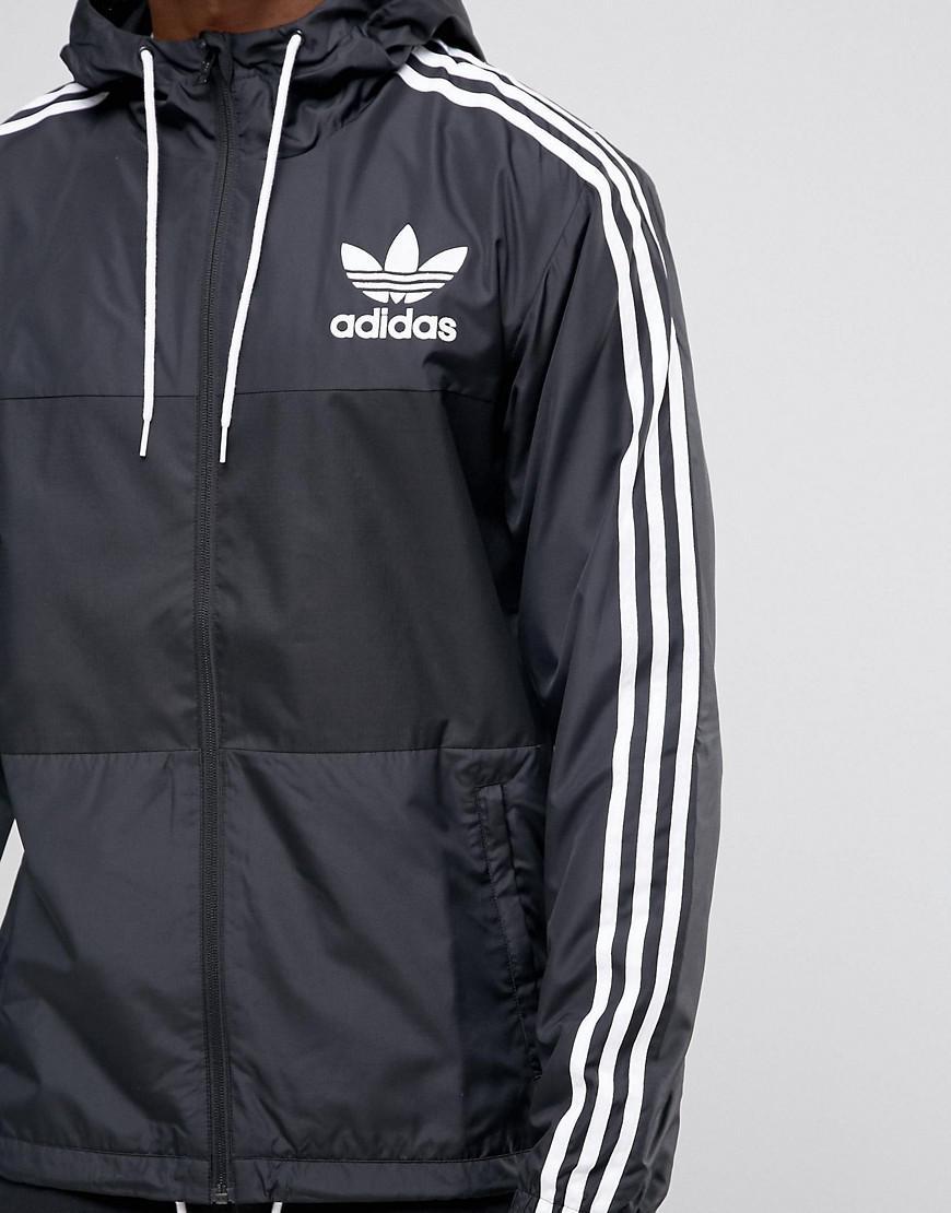 Lyst Adidas Originals Adidas Clfn Originals Chaqueta para cortavientos Ay7747 en Negro para Hombres c954e11 - temperaturamning.website