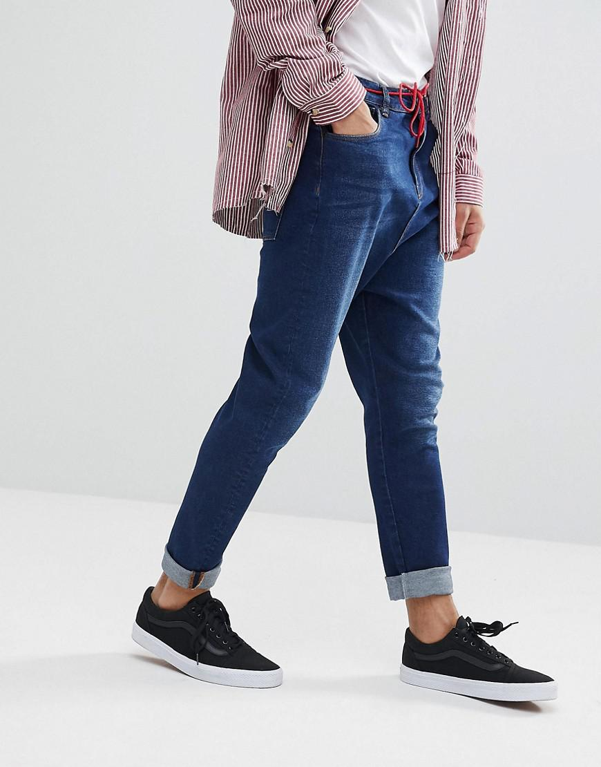 Drop Crotch Jeans In Vintage Dark Wash With Tint - Dark wash vintage Asos Cheap Footlocker Pictures Buy Cheap Many Kinds Of Sale Really Cheap Sale Big Discount Discount Codes Really Cheap hQJ4ImVa