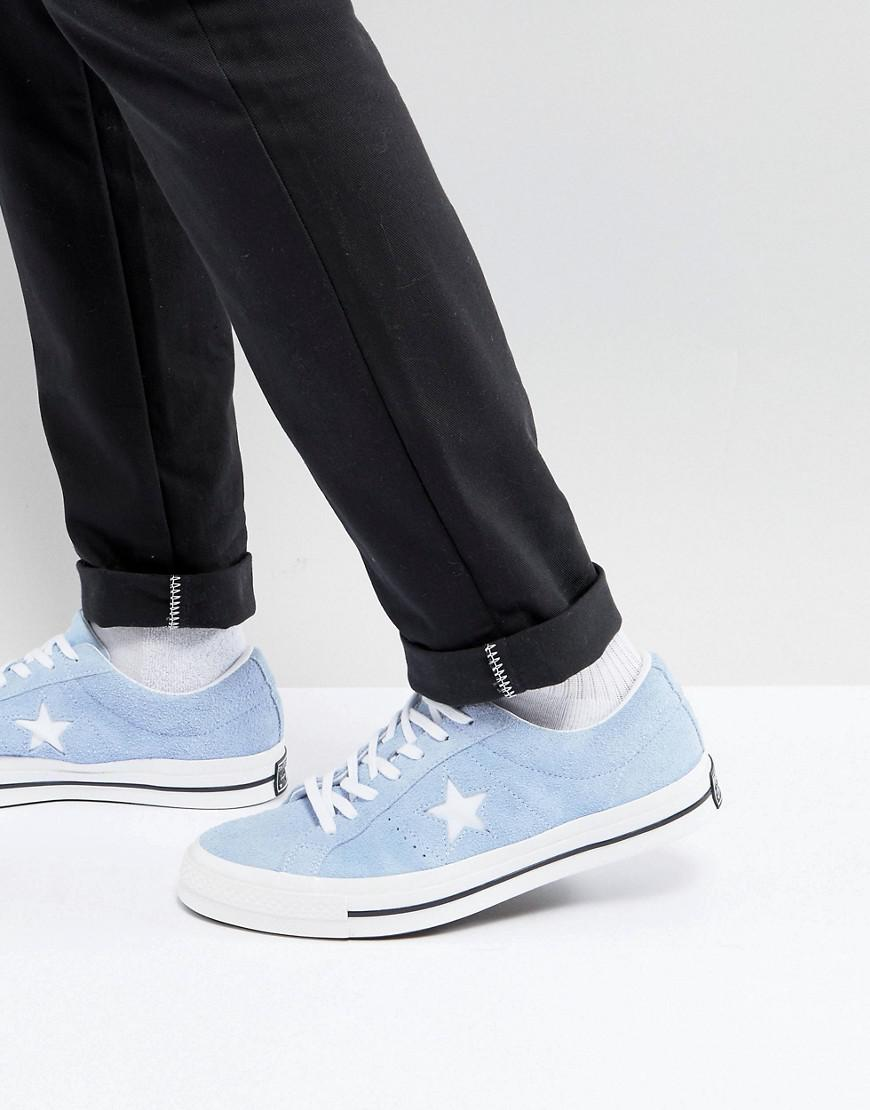 Converse One Star Ox Plimsolls In Blue 159768C buy cheap huge surprise outlet in China amazon sale online kqpONO1W