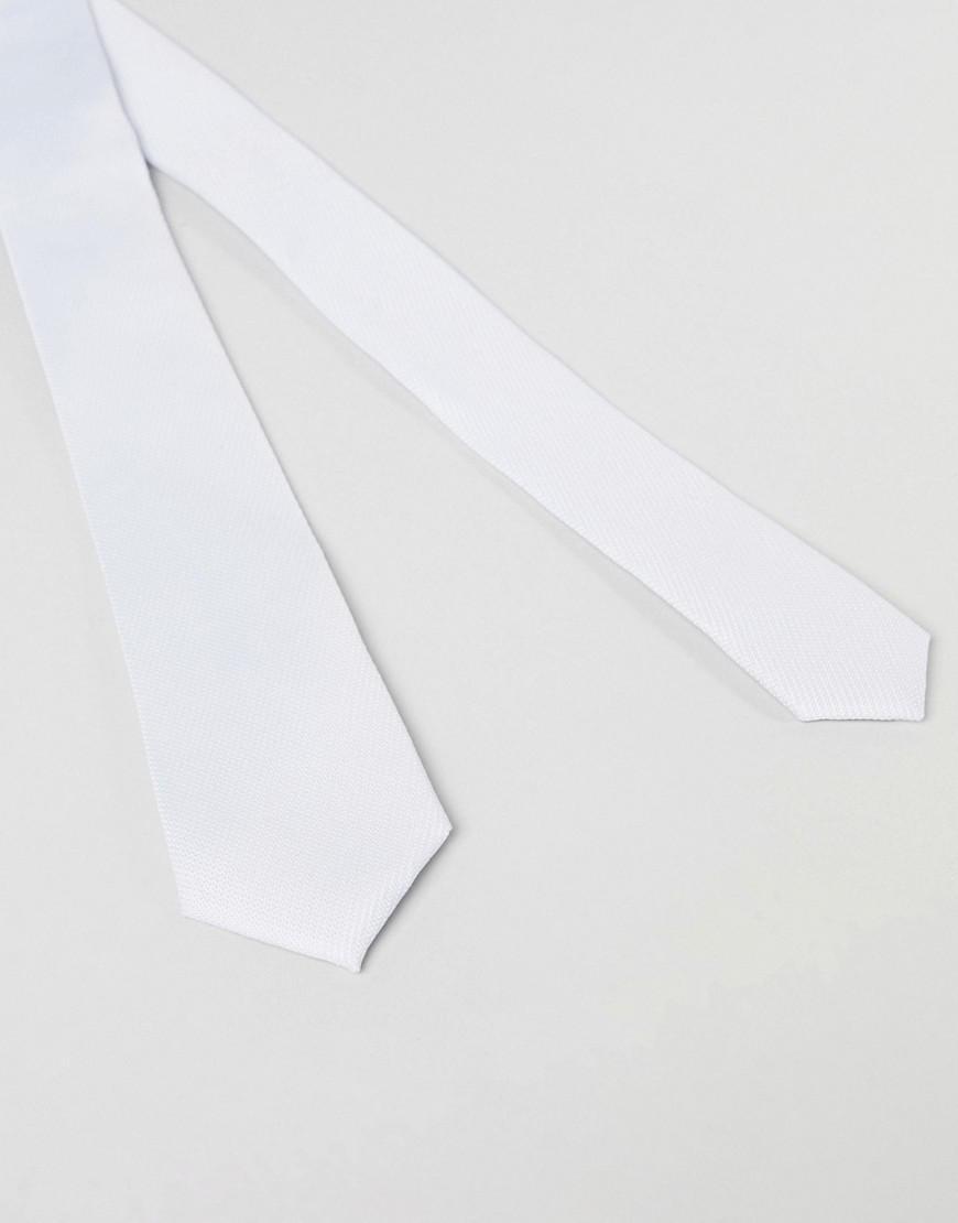 Conception Mince Cravate Texturé Avec Barre De Cravate En Bleu Pâle - Asos Bleu wgaA5