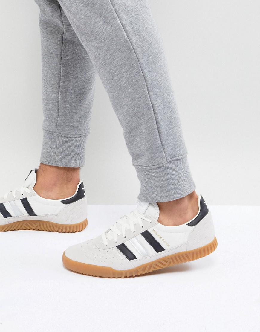 adidas Originals Indoor Super Trainers In White Cq2223 in White for ... 2b20c2c9e