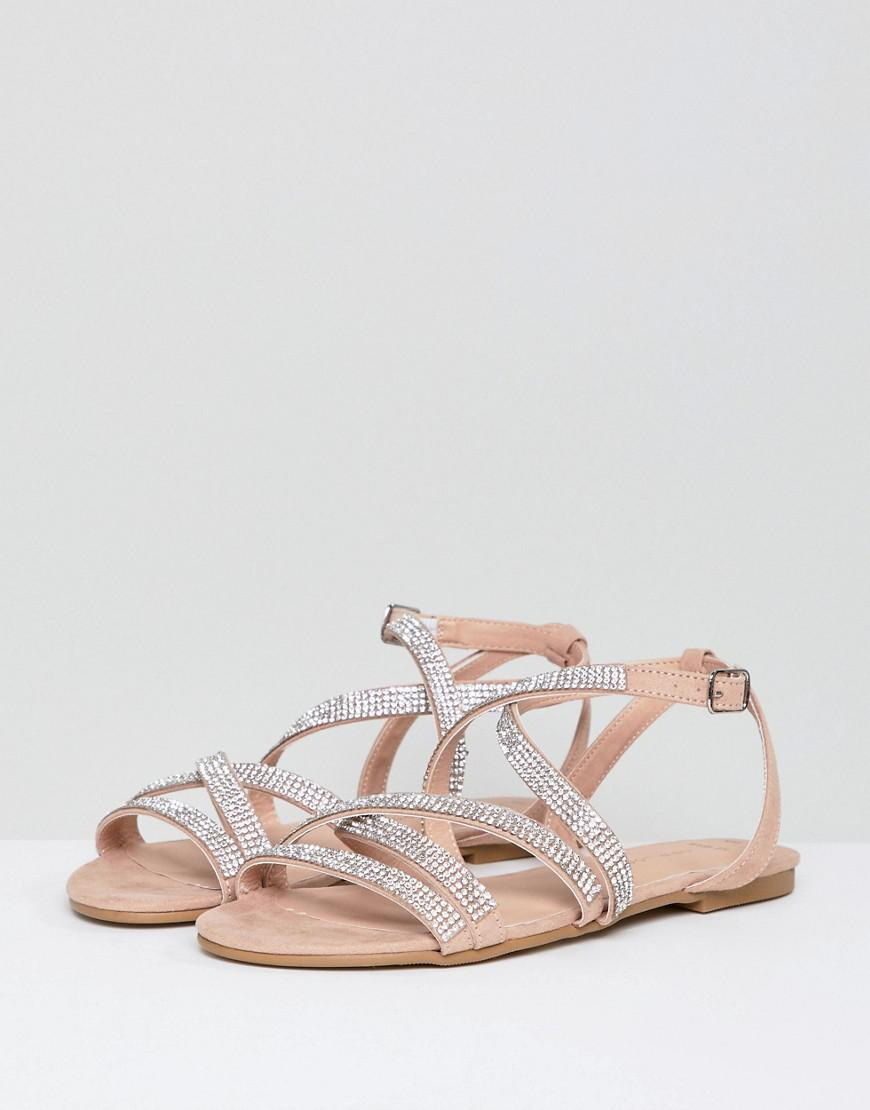 cheap amazon discount with credit card New Look Wide Fit Suedette Embellished Strappy Flat Sandal Lj2mB