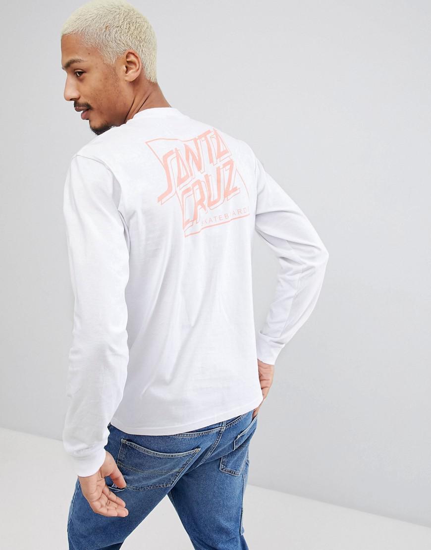 T-Shirt With Creeper Back Print In White - White Santa Cruz Classic Cheap Online erVPhbAjB