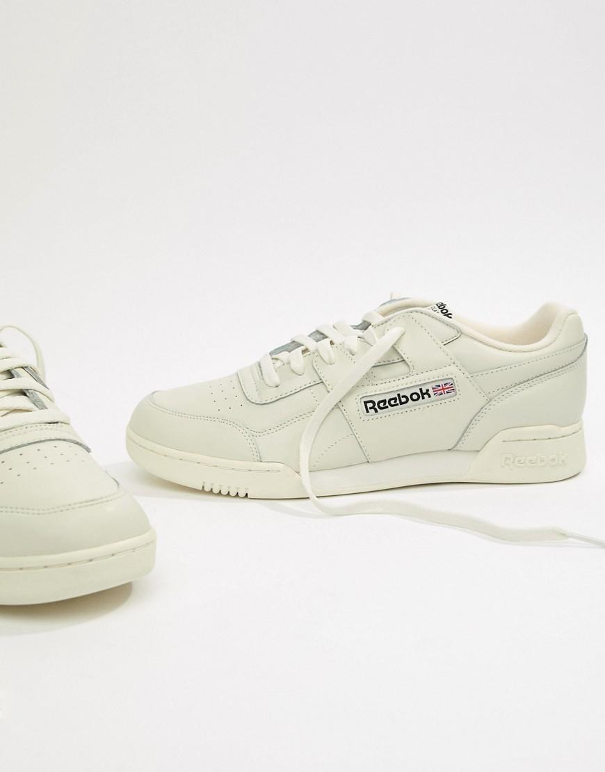 Reebok Workout Plus Trainers In Cream Cn4966 in Black for Men - Lyst 75ca4206b