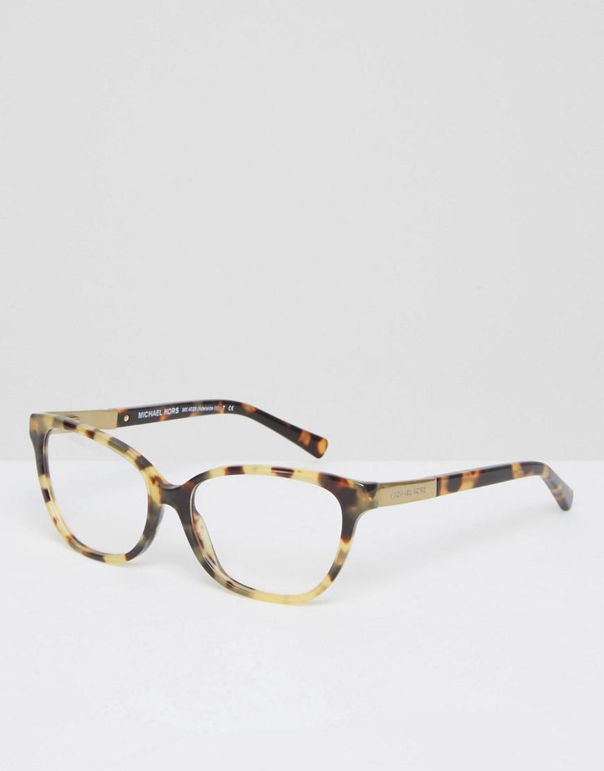 c18eff477d Michael Kors Cat Eye Frame Optical Clear Lens Glasses in Brown - Lyst