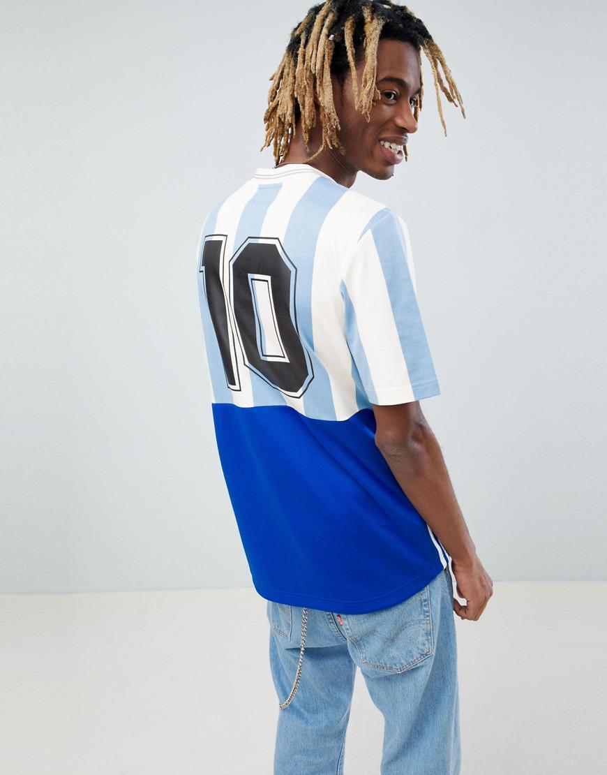 f4f2b455373 Lyst - adidas Originals Retro Argentina Soccer Jersey In Blue Ce3732 in  Blue for Men