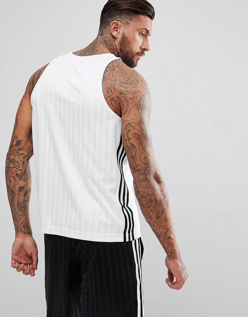 bd885886faa28 Lyst - adidas Originals Adicolor Football Vest In White Cv8609 in White for  Men