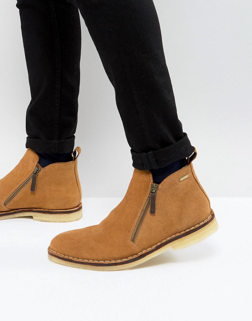Otis Suede Zip Boots In Black - Black Kurt Geiger ZpV74y7E