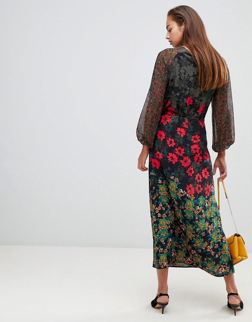 52dbb8aa2b Lyst - Sisley Floral Maxi Dress