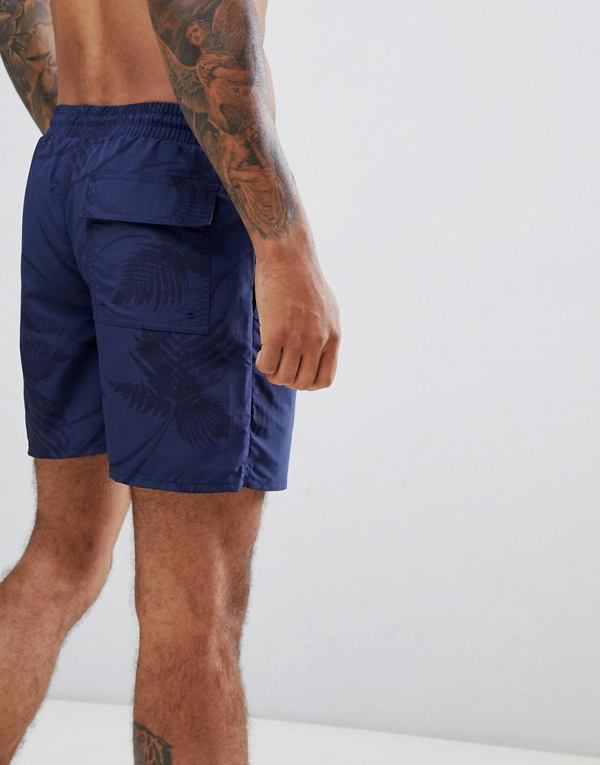 75981aafdf Lyst - Lyle & Scott Fern Print Swim Shorts In Navy in Blue for Men