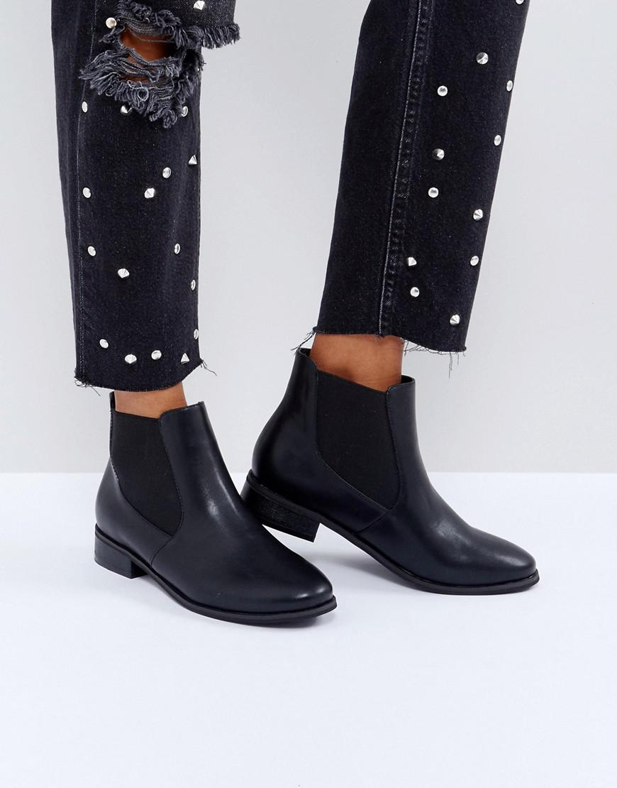 2747286f4190 London Rebel Chelsea Boot On Tread Sole in Black - Lyst